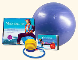 Yoga ball body sculpting
